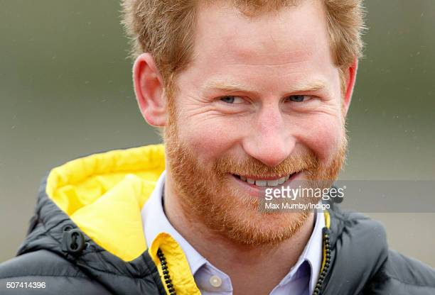 Prince Harry attends the UK team trials for the Invictus Games Orlando 2016 at the University of Bath on January 29 2016 in Bath England