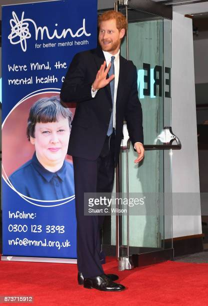 Prince Harry attends the Virgin Money Giving Mind Media Awards at Odeon Leicester Square on November 13 2017 in London England