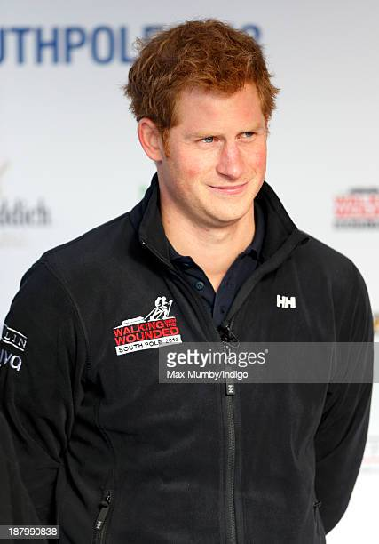 Prince Harry attends the Walking With The Wounded South Pole Allied Challenge Departure Event at Trafalgar Square on November 14 2013 in London...