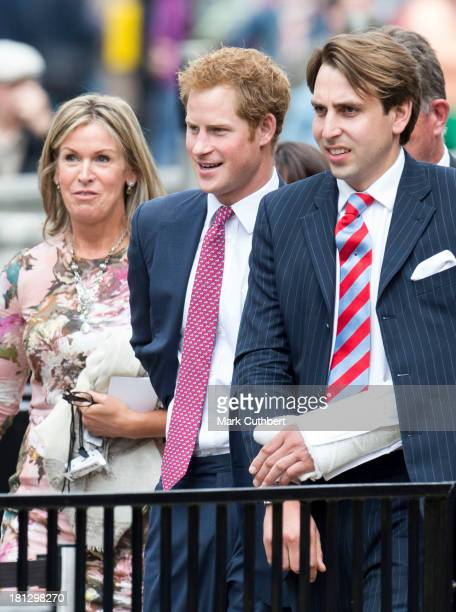 Prince Harry attends the wedding of Alexander Fellowes and Alexandra Finlay at St Mary's Undercroft on September 20 2013 in London England