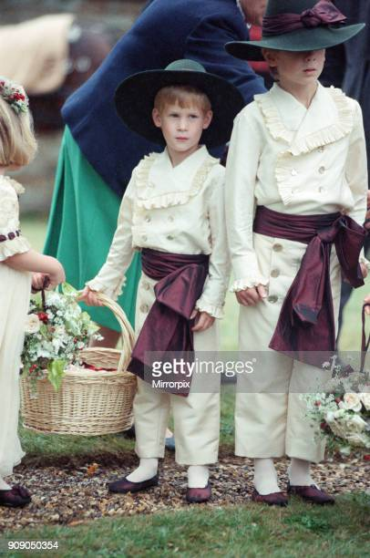 Prince Harry attends the wedding of Earl Spencer Princess Diana's brother Charles Althorp and his bride Victoria Lockwood The ceremony was held at...