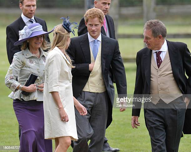 Prince Harry attends the wedding of James Meade And Lady Laura Marsham on September 14 2013 in King's Lynn England