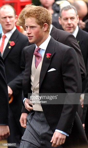 Prince Harry Attends The Wedding Of Lady Tamara Katherine Grosvenor Edward Van Cutsem At Chester Cathedral