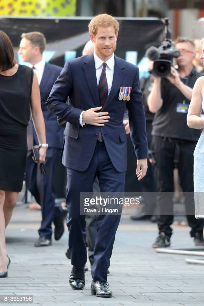 Prince Harry attends the world premiere of 'Dunkirk' at Odeon Leicester Square on July 13 2017 in London England