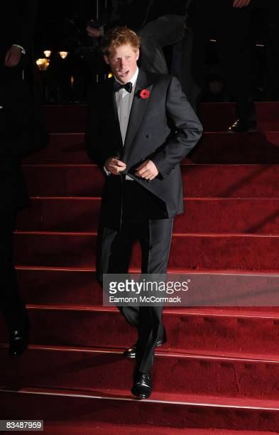 Prince Harry attends the world premiere of 'Quantum of Solace' at Odeon Leicester Square on October 29, 2008 in London, England.