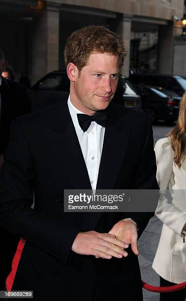 Prince Harry attends Walking With The Wounded Crystal Ball Gala Dinner at The Grosvenor House Hotel on May 30 2013 in London England