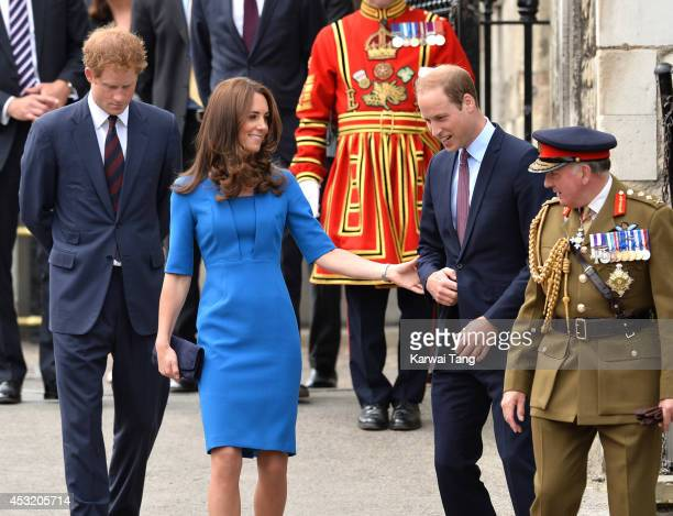 Prince Harry Catherine Duchess of Cambridge and Prince William Duke of Cambridge visits the Tower of London's 'Blood Swept Lands and Seas of Red'...