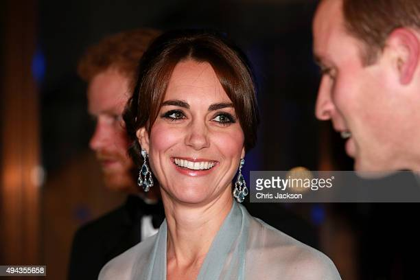 Prince Harry , Catherine, Duchess of Cambridge and Prince William, Duke of Cambridge attend The Cinema and Television Benevolent Fund's Royal Film...