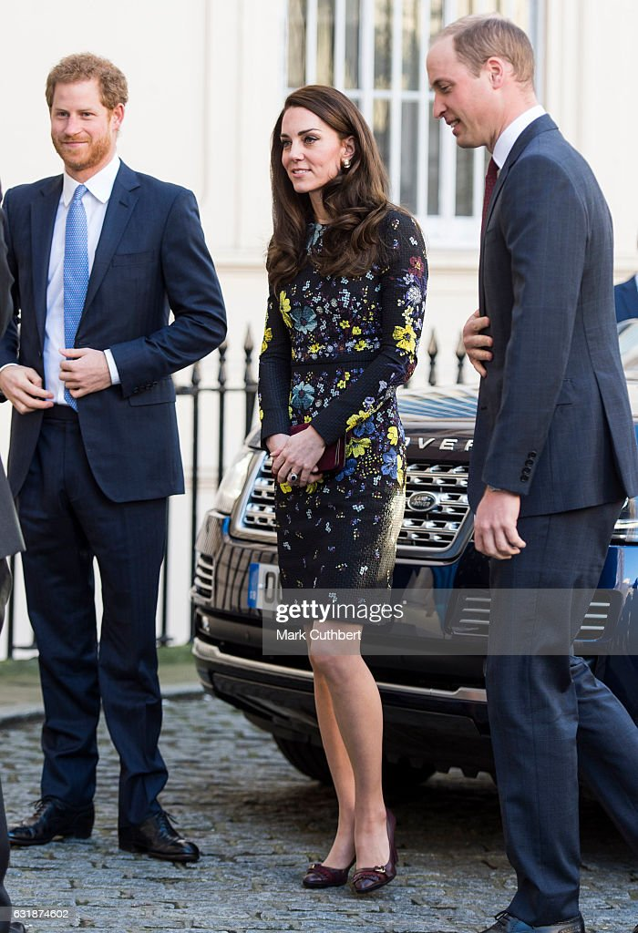 The Duke & Duchess Of Cambridge And Prince Harry Outline Plans For Heads Together Ahead Of The 2017 Virgin Money London Marathon : News Photo