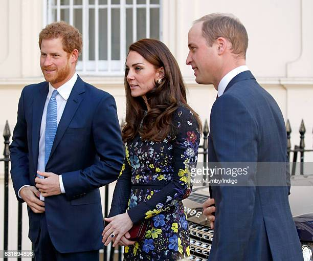 Prince Harry Catherine Duchess of Cambridge and Prince William Duke of Cambridge attend a briefing to outline the next phase of Heads Together ahead...