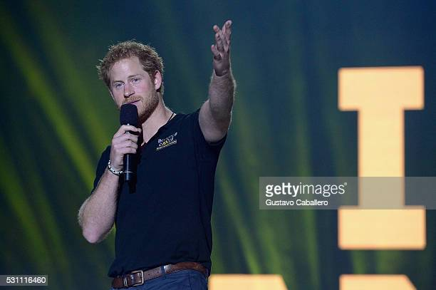 Prince Harry closing remarks during the Invictus Games Orlando 2016 - Closing Ceremony at ESPN Wide World of Sports Complex on May 12, 2016 in Lake...