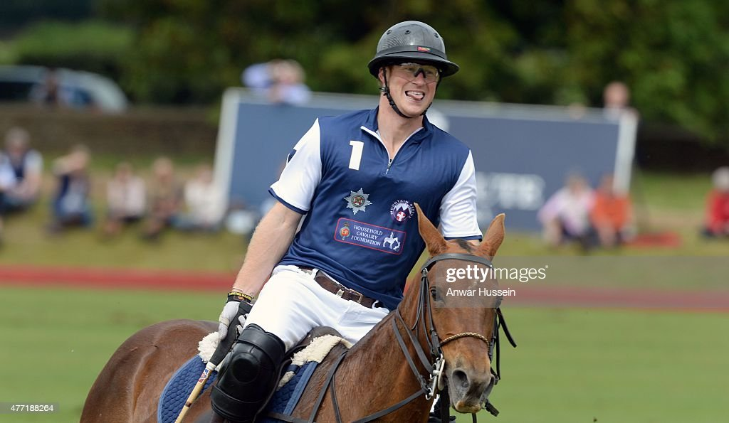 The Duke Of Cambridge And Prince Harry Play In Gigaset Charity Polo Match : News Photo