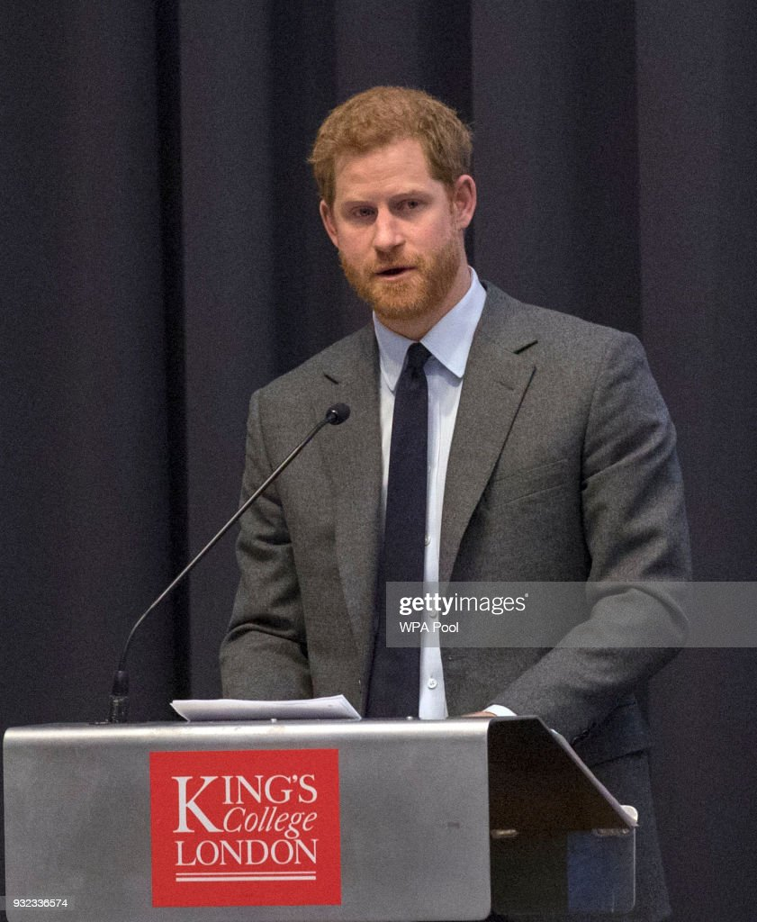 Prince Harry Attends Veterans' Mental Health Conference