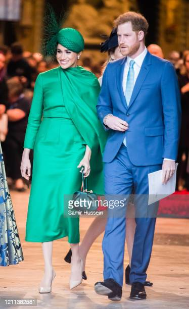 Prince Harry, Duhcess of Sussex and Meghan, Duchess of Sussex attend the Commonwealth Day Service 2020 on March 09, 2020 in London, England.