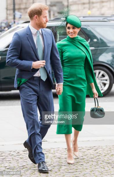 Prince Harry Duhcess of Sussex and Meghan Duchess of Sussex attends the Commonwealth Day Service 2020 on March 09 2020 in London England