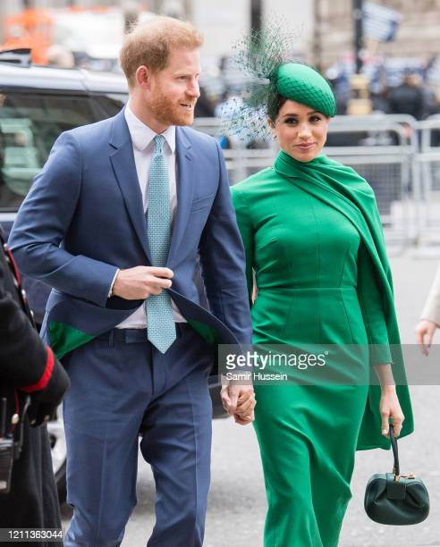 Prince Harry, Duhcess of Sussex and Meghan, Duchess of Sussex attends the Commonwealth Day Service 2020 on March 09, 2020 in London, England.