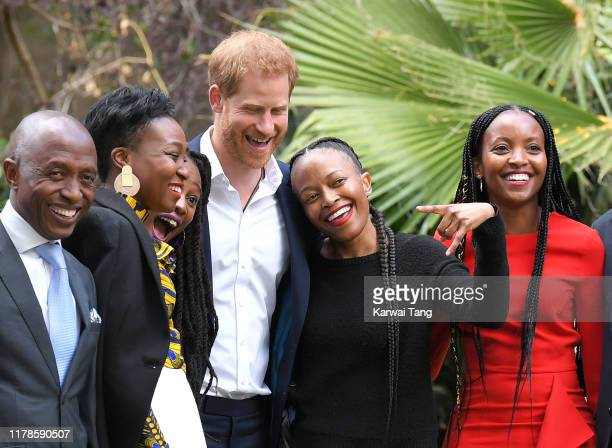 Prince Harry Duke of Sussex accompanied by Meghan Duchess of Sussex attends a reception to celebrate the UK and South Africa's important business and...