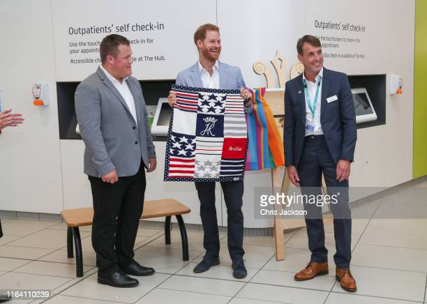 Prince Harry, Duke of Sussex after unveiling a plaque during a visit to Sheffield Children's Hospital on July 25, 2019 in Sheffield, England.