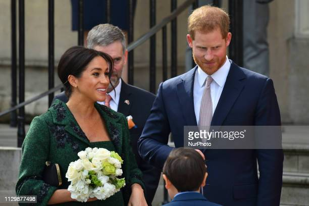 Prince Harry Duke of Sussex and Duchess of Sussex attend a Commonwealth Day Youth Event at Canada House on March 11 2019 in London England The event...