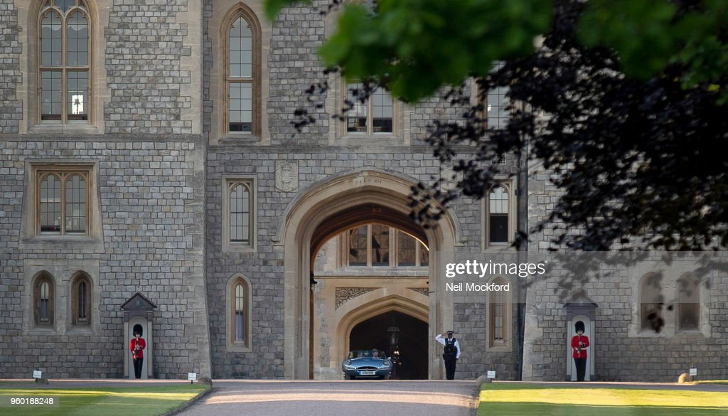 Prince Harry, Duke Of Sussex And Meghan, Duchess Of Sussex Are Seen Leaving Windsor Castle Following Their Wedding