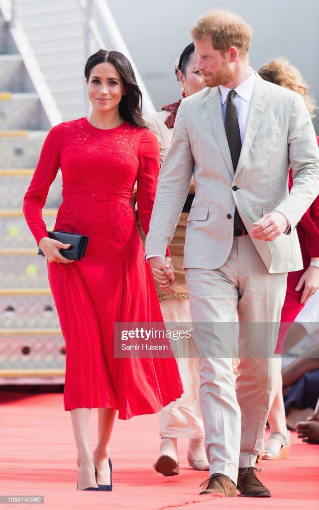 The Duke And Duchess Of Sussex Visit Tonga - Day 1 : News Photo