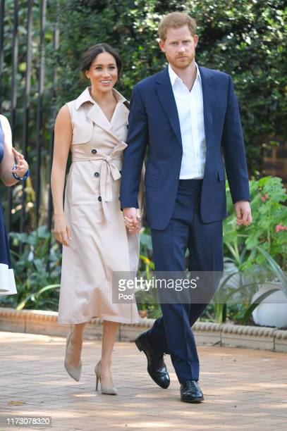 Prince Harry Duke of Sussex and Meghan Duchess of Sussex arrive at the Creative Industries and Business Reception at the British High Commissioners...