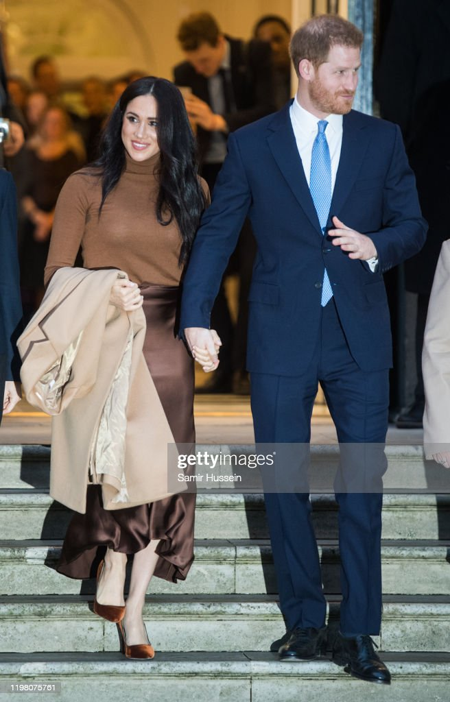 The Duke And Duchess Of Sussex Visit Canada House : News Photo