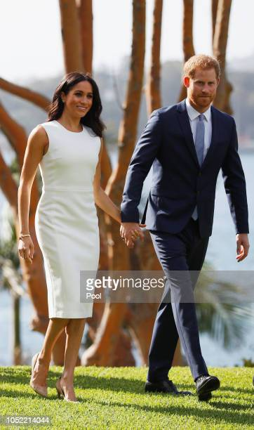 Prince Harry Duke of Sussex and Meghan Duchess of Sussex attend a Welcome Event at Admiralty House on October 16 2018 in Sydney Australia The Duke...