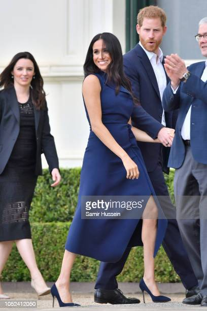 Prince Harry Duke of Sussex and Meghan Duchess of Sussex attend a Reception hosted by the Honourable Linda Dessau AC Governor of Victoria and Mr...