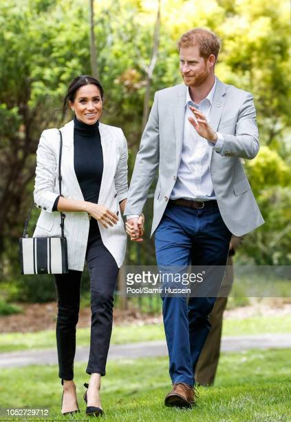 Prince Harry Duke of Sussex and Meghan Duchess of Sussex attend a reception hosted by the Prime Minister of Australia at The Pavilion Restaurant on...