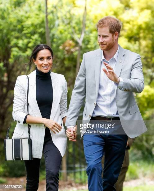 Prince Harry, Duke of Sussex and Meghan, Duchess of Sussex attend a reception hosted by the Prime Minister of Australia at The Pavilion Restaurant on...