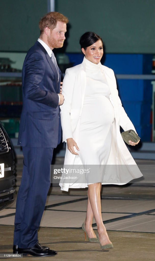 "GBR: The Duke And Duchess Of Sussex Attend A Gala Performance Of ""The Wider Earth"""