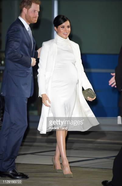 Prince Harry Duke of Sussex and Meghan Duchess of Sussex attend a Gala Performance Of The Wider Earth at Natural History Museum on February 12 2019...