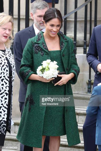 Prince Harry Duke of Sussex and Meghan Duchess Of Sussex attend a Commonwealth Day Youth Event at Canada House on March 11 2019 in London England