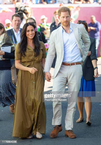 Prince Harry, Duke of Sussex and Meghan, Duchess of Sussex attend Heritage Day public holiday celebrations in the Bo Kaap district of Cape Town,...