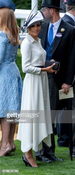 Prince Harry Duke of Sussex and Meghan Duchess of Sussex attend Royal Ascot Day 1 at Ascot Racecourse on June 19 2018 in Ascot United Kingdom