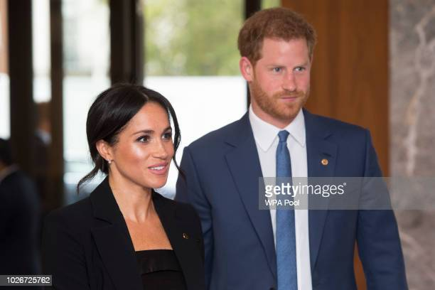 Prince Harry Duke of Sussex and Meghan Duchess of Sussex attend the WellChild awards at Royal Lancaster Hotel on September 4 2018 in London England...