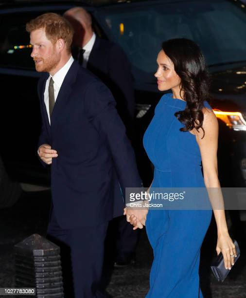 Prince Harry Duke of Sussex and Meghan Duchess of Sussex attend the 100 Days of Peace concert to commemorate the centenary of the end of the First...
