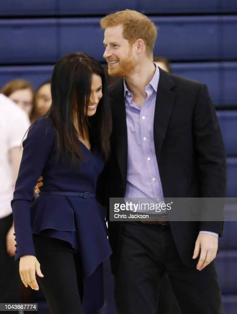Retransmission of with alternate crop Meghan Duchess of Sussex attends the Coach Core Awards held at Loughborough University on September 24 2018 in...