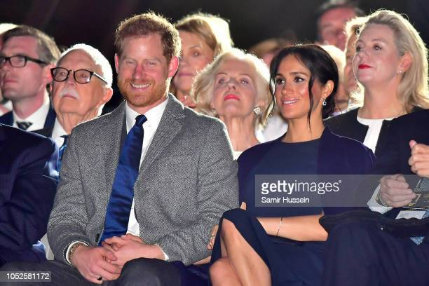 Prince Harry Duke of Sussex and Meghan Duchess of Sussex attend the Invictus Games Opening Ceremony on October 20 2018 in Sydney Australia The Duke...