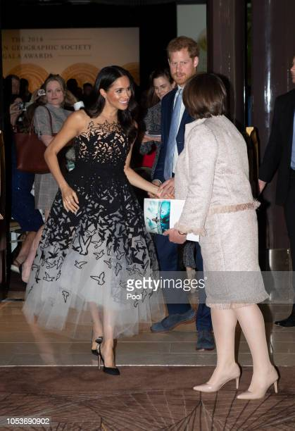 Prince Harry Duke of Sussex and Meghan Duchess of Sussex attend the Australian Geographic Society Awards to present youth awards to honour the...