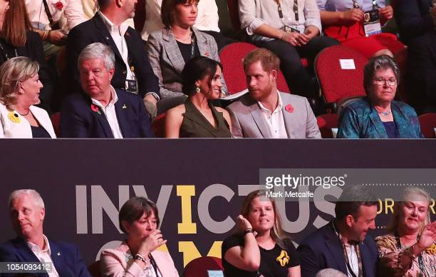 Prince Harry, Duke of Sussex and Meghan, Duchess of Sussex attend the 2018 Invictus Games Closing Ceremony at Qudos Bank Arena on October 27, 2018 in...