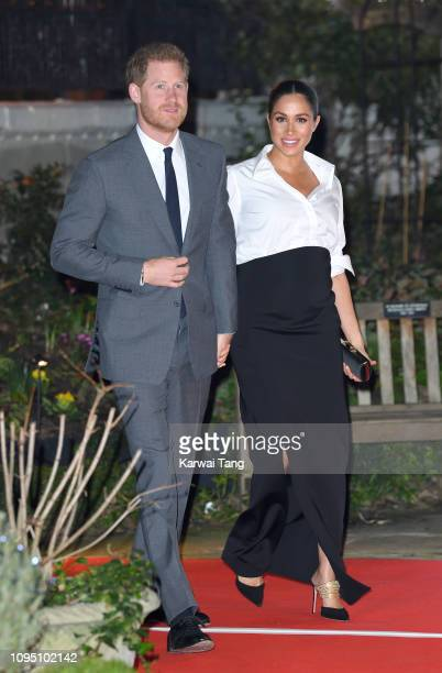 Prince Harry Duke of Sussex and Meghan Duchess of Sussex attend the Endeavour Fund Awards at Drapers Hall on February 7 2019 in London England