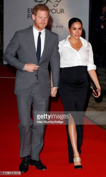 Prince Harry, Duke of Sussex and Meghan, Duchess of Sussex attend the Endeavour Fund awards at Drapers' Hall on February 7, 2019 in London, England....