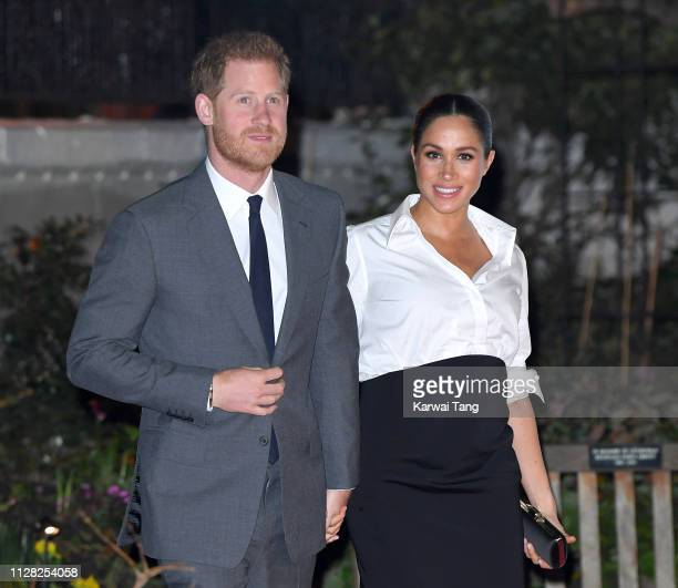 Prince Harry Duke of Sussex and Meghan Duchess of Sussex attend the Endeavour Fund awards at Drapers Hall on February 07 2019 in London England