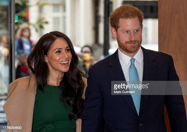 Prince Harry, Duke of Sussex and Meghan, Duchess of Sussex attend the WellChild awards at Royal Lancaster Hotel on October 15, 2019 in London,...