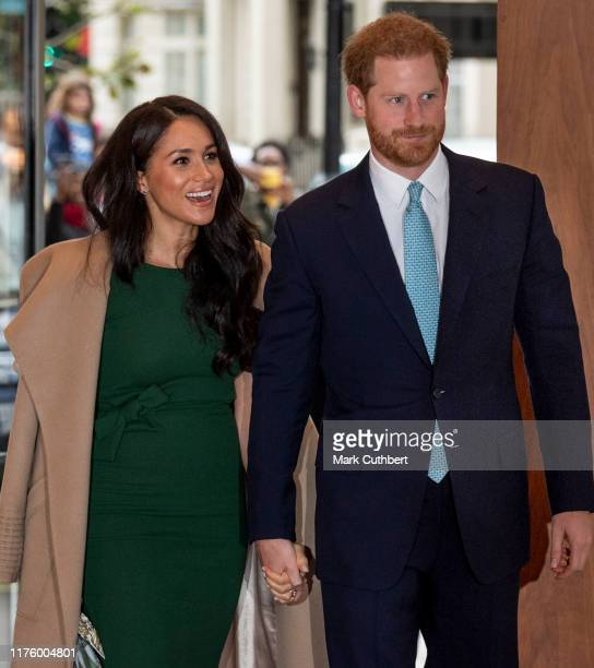 Prince Harry Duke of Sussex and Meghan Duchess of Sussex attend the WellChild awards at Royal Lancaster Hotel on October 15 2019 in London England