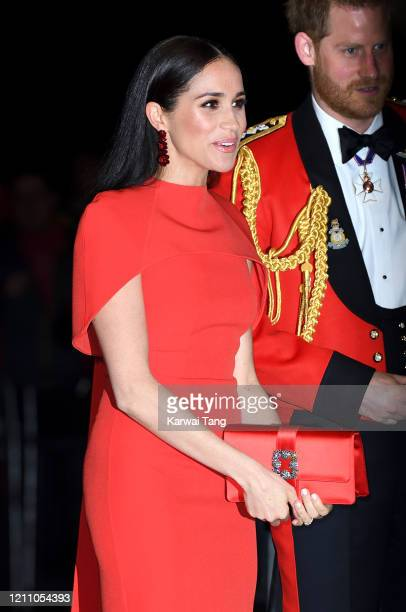 Prince Harry, Duke of Sussex and Meghan, Duchess of Sussex attend the Mountbatten Festival of Music at Royal Albert Hall on March 07, 2020 in London,...