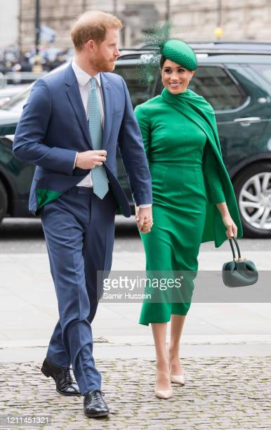 Prince Harry, Duke of Sussex and Meghan, Duchess of Sussex attend the Commonwealth Day Service 2020 on March 09, 2020 in London, England.