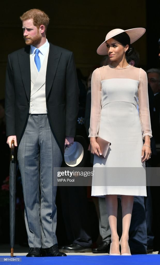 Prince Harry, Duke of Sussex and Meghan, Duchess of Sussex attend The Prince of Wales' 70th Birthday Patronage Celebration held at Buckingham Palace on May 22, 2018 in London, England.
